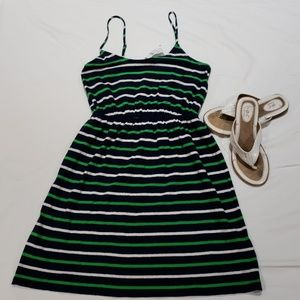 NWT J Crew linen blend spaghetti strap dress